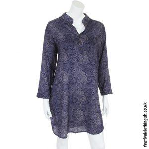 Blue Paisley Rayon Tunic