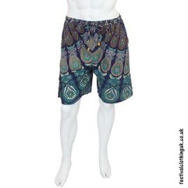 Cotton-Throw-Festival-Shorts-Blue-Front