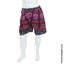 Cotton-Throw-Festival-Shorts-Pink-front