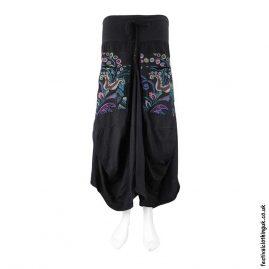 Long-Black-Embroidery-Flower-Balloon-Skirt