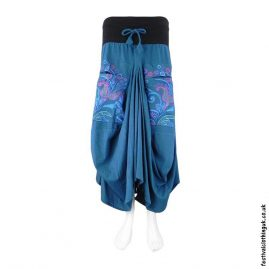 Long-Blue-Embroidery-Flower-Balloon-Skirt