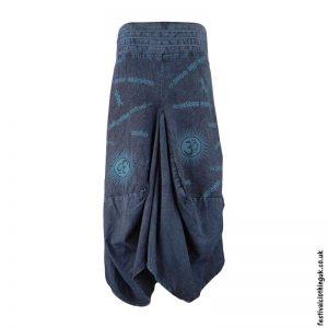 Long-Om-Print-Blue-Balloon-Skirt