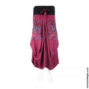 Long-Red-Embroidery-Flower-Balloon-Skirt