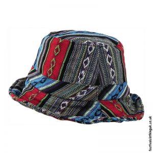Multicoloured-Striped-Gheri-Cotton-Sun-Hat