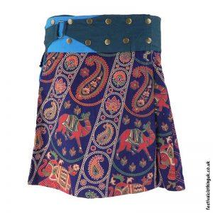 Short-Cotton-Popper-Wrap-Skirt-Blue