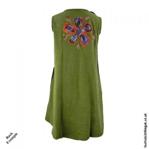 Short-Patchwork-Embroidery-Festival-Dress-Back