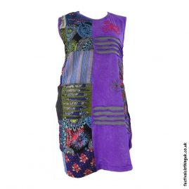Short-Patchwork-Embroidery-Festival-Dress-Purple