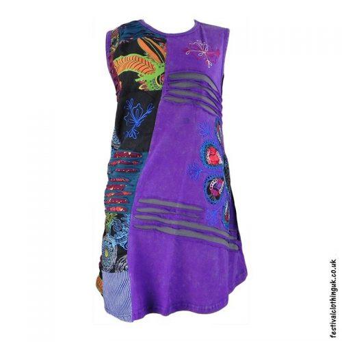 Short-Patchwork-Embroidery-Festival-Dress-Purple