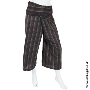 Striped Blue Yoga Pants