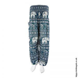 Teal-Elephant-Print-Harem-Pants