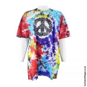 Tie-Dye-Cotton-Festival-T-Shirt-Peace-Sign