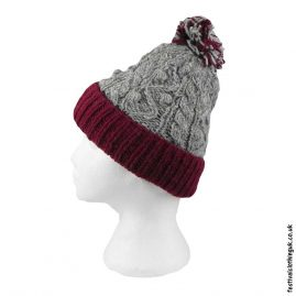 Wool-Festival-Cable-Knit-Bobble-Hat-Burgundy