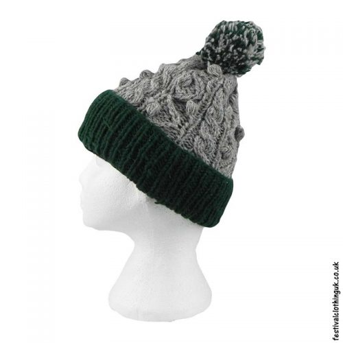 Wool-Festival-Cable-Knit-Bobble-Hat-Green