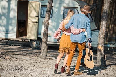 camping-at-a-festival-caravan