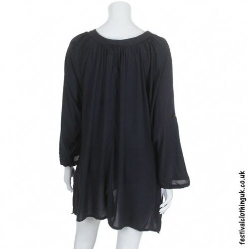 Black-Smock-Festival-Blouse-Top-Bsck