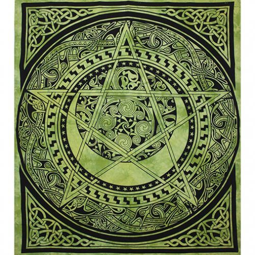 Dyed-Green-Pentagram-Festival-Throw-Front