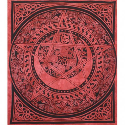 Dyed-Red-Pentagram-Festival-Throw-Front