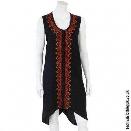 Long-Black-Embroidered-Festival-Dress
