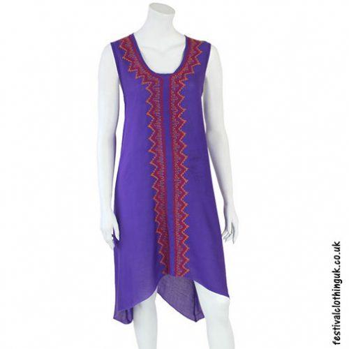 Long-Purple-Embroidery-Festival-Dress