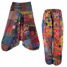 Patchwork Harem Pants