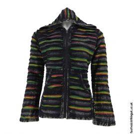 Rasta-Colour-Hooded-Festival-Jacket-Black