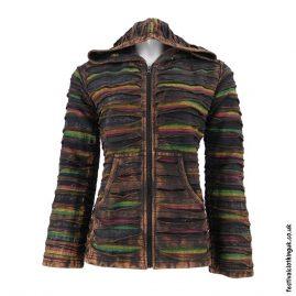 Rasta-Colour-Hooded-Festival-Jacket-Brown