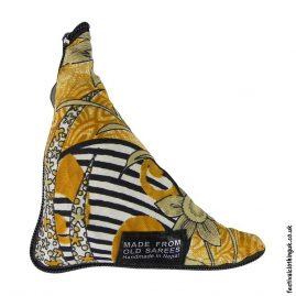 Re-usable-Recycled-Sari-Fold-Away-Bag-Yellow