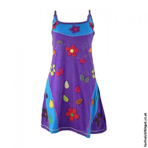 Short-Purple-Embroidery-Festival-Dress