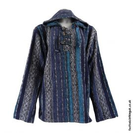 Thick-Weave-Festival-Hoodie-Blue