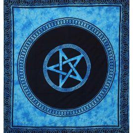 Turquoise-Dyed-Pentagram-Festival-Throw