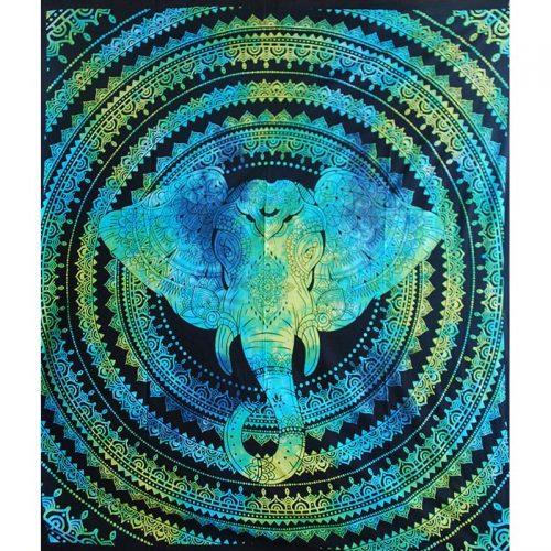 Turquoise-Elephant-Festival-Throw