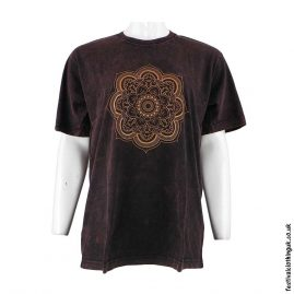 Cotton-Festival-T-Shirt-Brown-Mandala