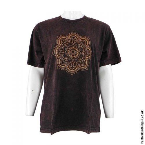 Cotton-Festival-T-Shirt-Brown-Mandala