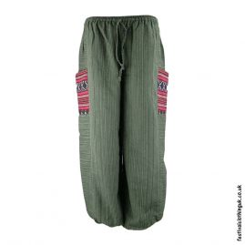 Green-Cotton-Festival-Trousers-with-Gheri-Pocket