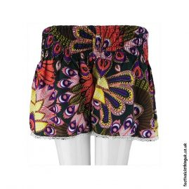 Ladies-Festival-Shorts-with-Lace-Tropical-Green