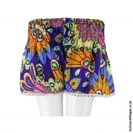 Ladies-Festival-Shorts-with-Lace-Tropical-Purple