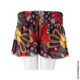 Ladies-Festival-Shorts-with-Lace-Tropical-Red