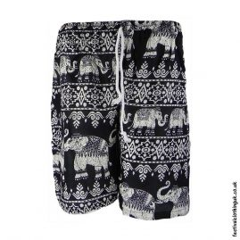 Male-Elephant-Long-Festival-Shorts-Black