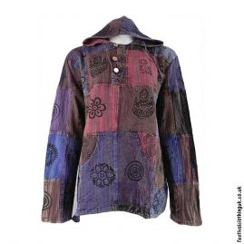 Multicoloured-Patchwork-Hooded-Festival-Top