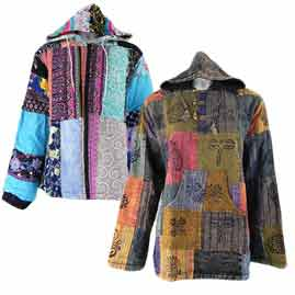 Patchwork Lined Hoodies and Jackets