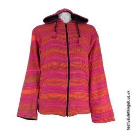 Pink-Fleece-Lined-Blanket-Jacket