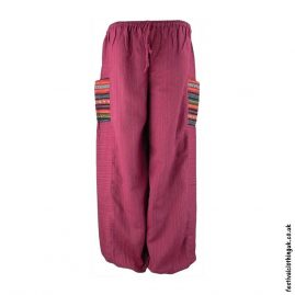 Red-Cotton-Festival-Trousers-with-Gheri-Pocket
