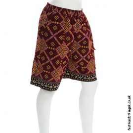 Red-Patterned-Cotton-Festival-Shorts