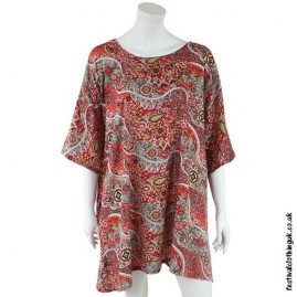 Short-Paisley-Festival-Kaftan-Red