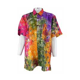 Tie Dye Buttoned Shirts