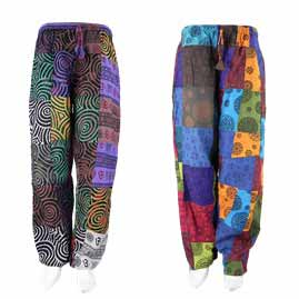 Pattern Patchwork Trousers