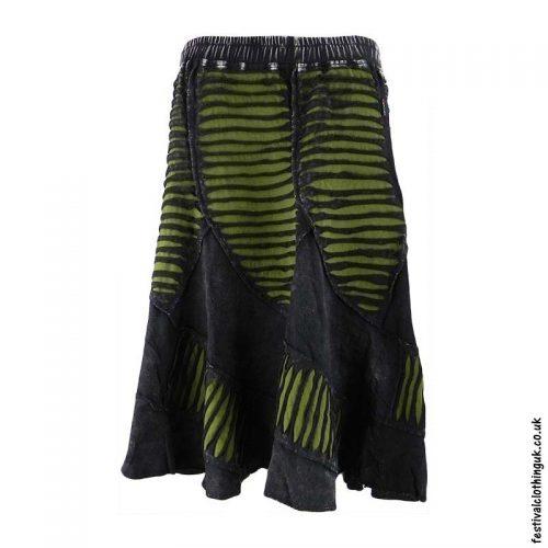 Black-Ripped-Look-Festival-Skirt