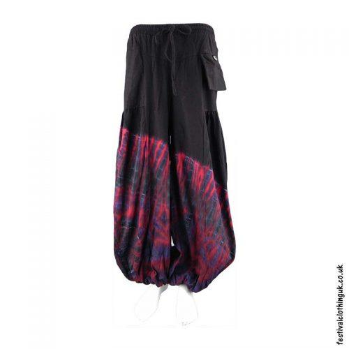 Black-Tie-Dye-Baggy-Cotton-Festival-Trousers