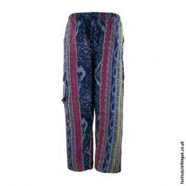 Blue-Multi-Pattern-Woven-Festival-Trousers