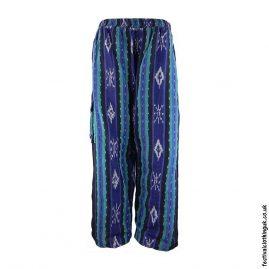 Blue-Pattern-Woven-Festival-Trousers